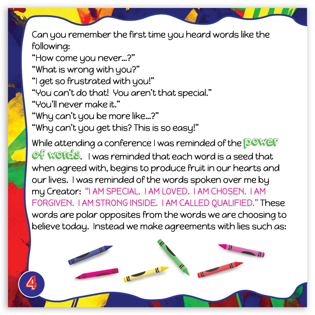 Speak Life Badges Promotional Booklet Page 4