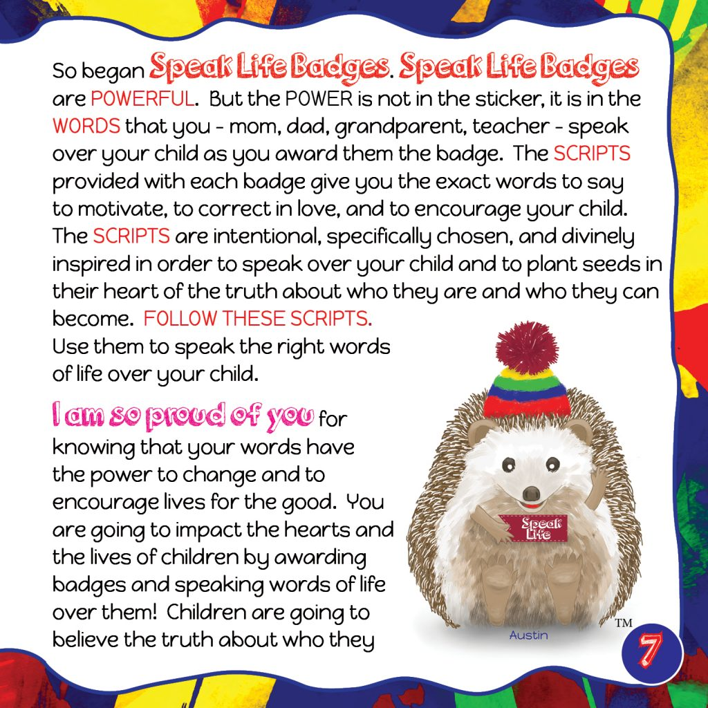 Speak Life Badges Promotional Booklet Page 7
