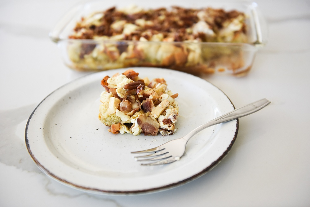 Sweet Pecan and Bacon French Toast Casserole
