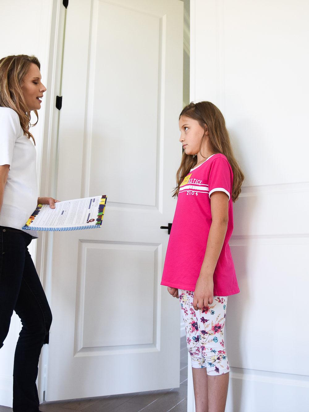 Kimberly talking to daughter