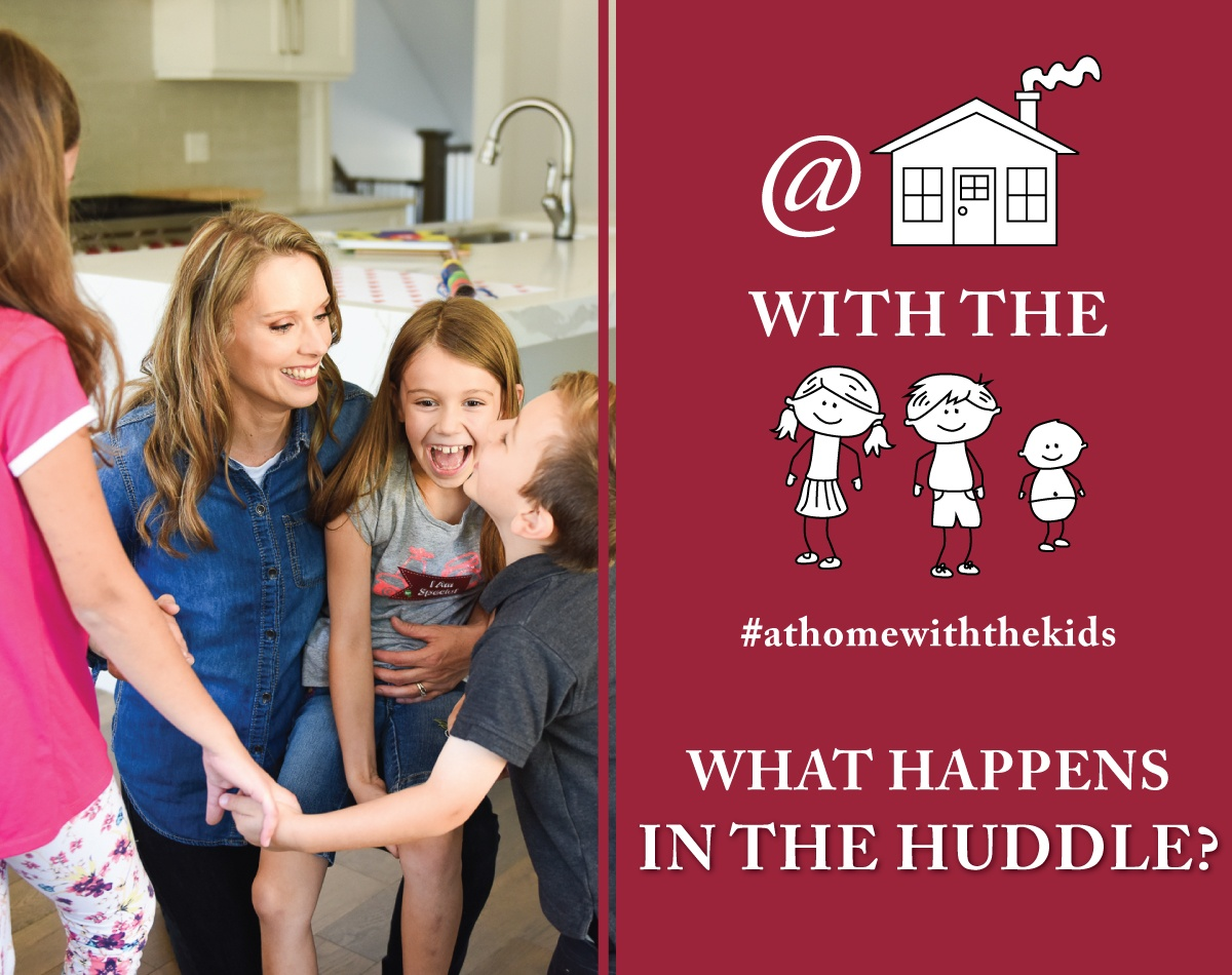 What happens in the huddle - Kimberly and kids