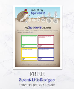 free sprouts journal page
