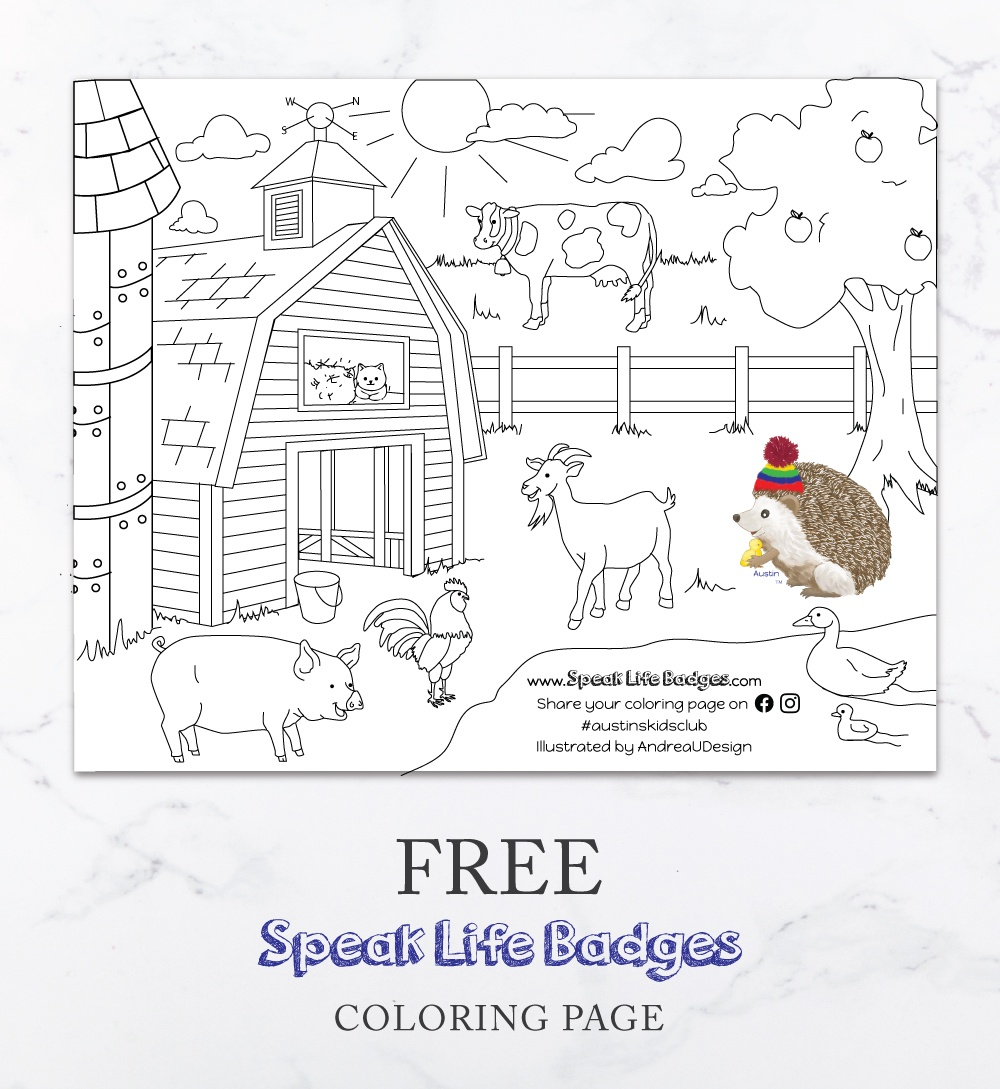 free speak life badges coloring page